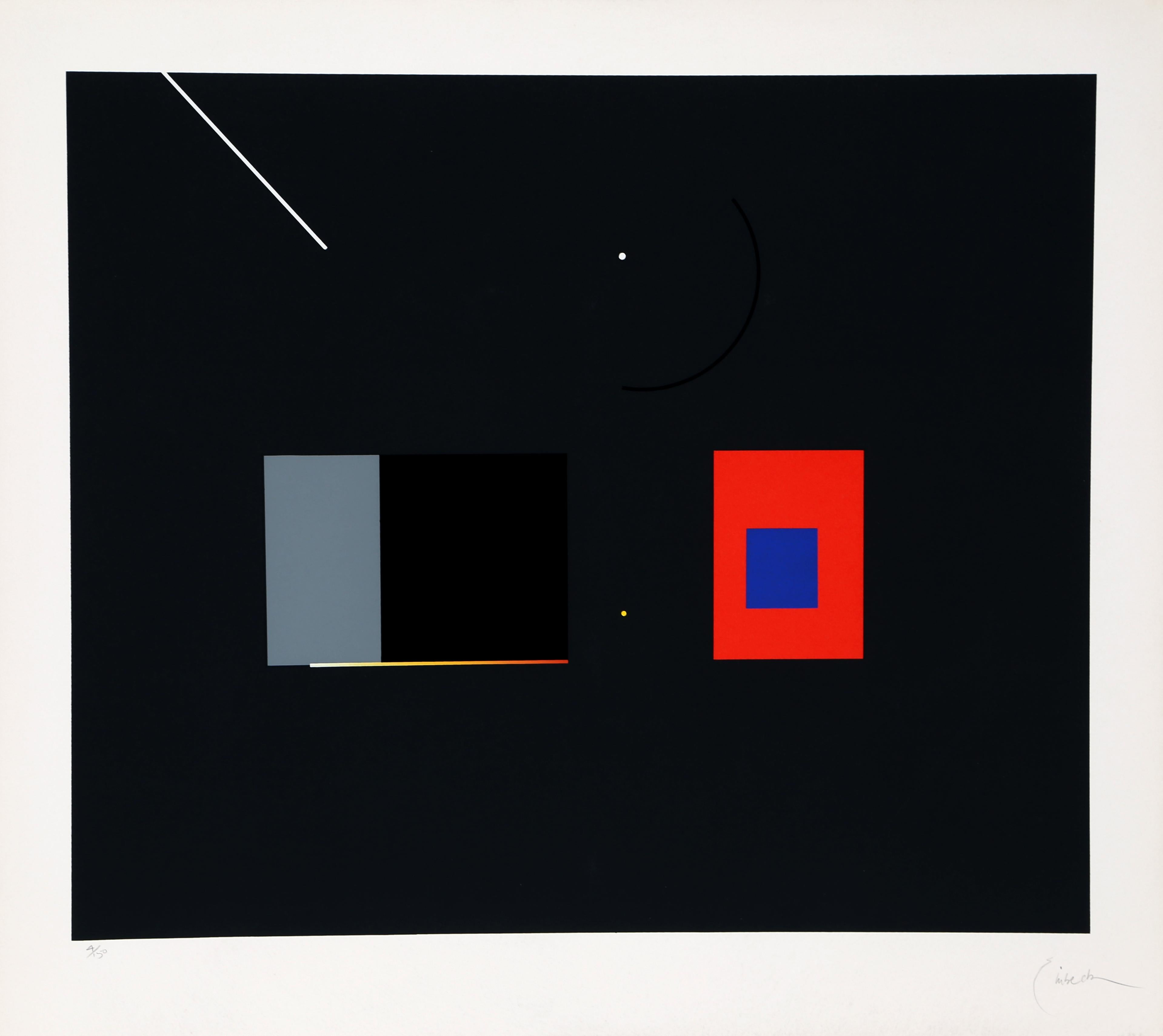 Abstract Serigraph III by Robert Einbeck