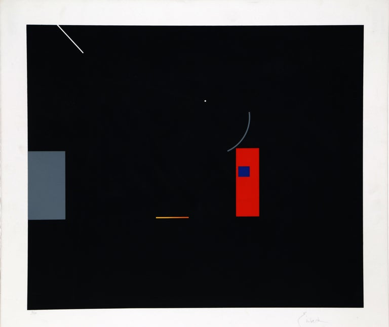 Artist: Robert Einbeck, French (1944 - ) Title: Untitled V Year: circa 1975 Medium: Serigraph on Arches, signed and numbered in pencil Edition: 150 Image Size: 22 x 26 inches Size: 27 in. x 30 in. (68.58 cm x 76.2 cm)