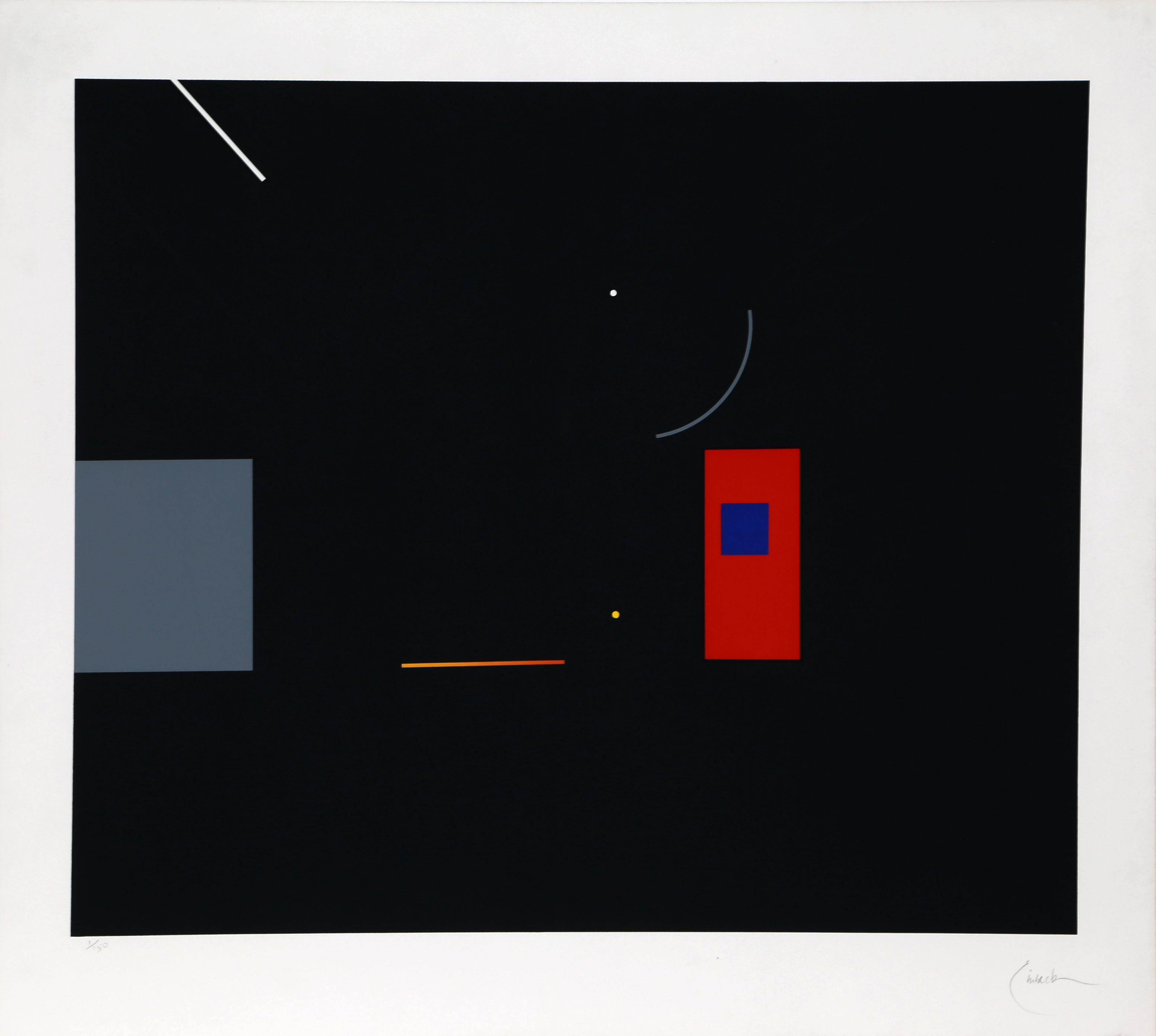 Abstract Serigraph VI by Robert Einbeck