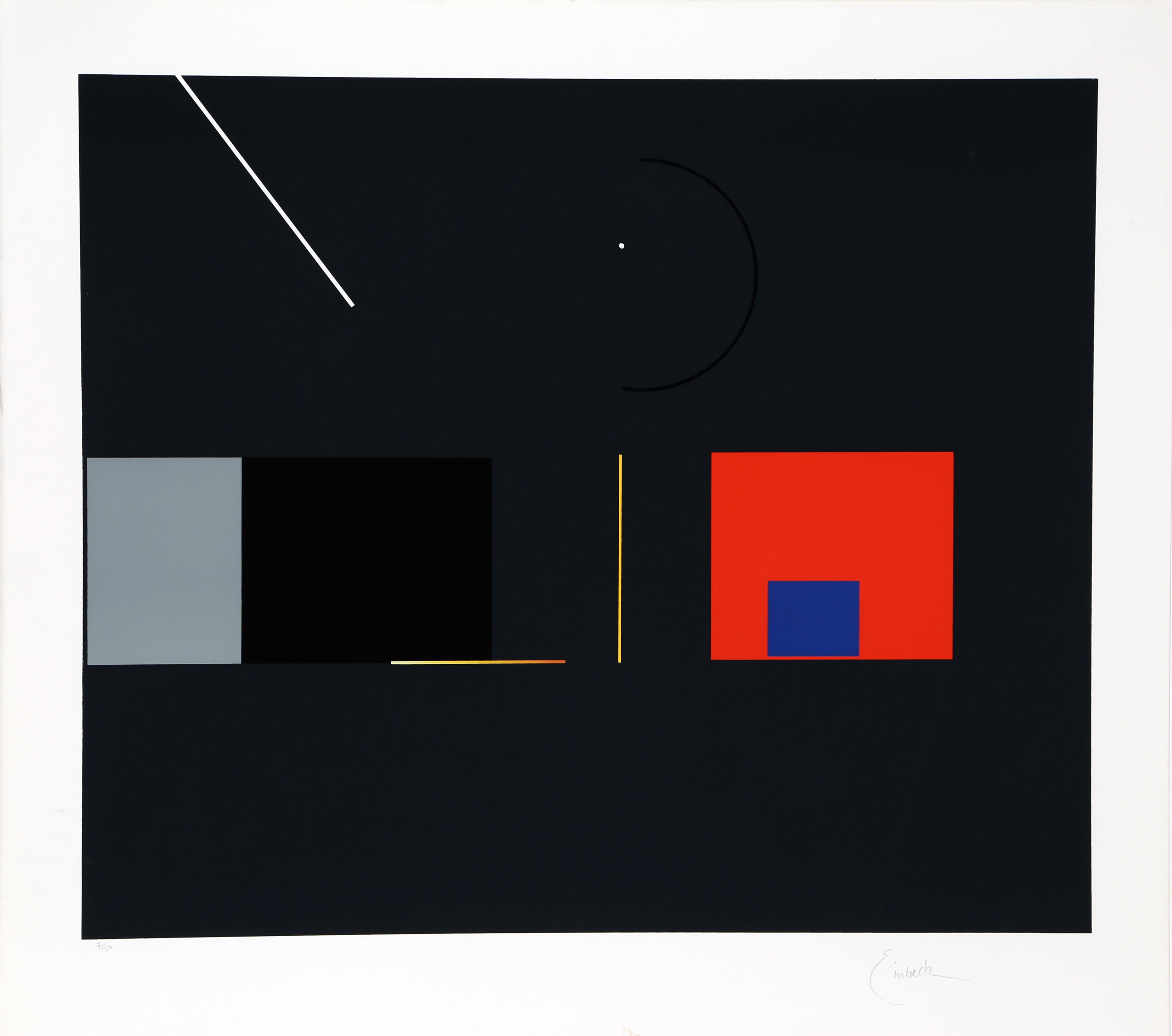 Geometric Serigraph I on Arches by Robert Einbeck