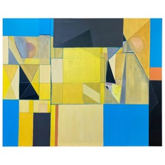 """Robert English """"Etheric Double"""", Large Abstract Cubist Painting, 1994-1995"""