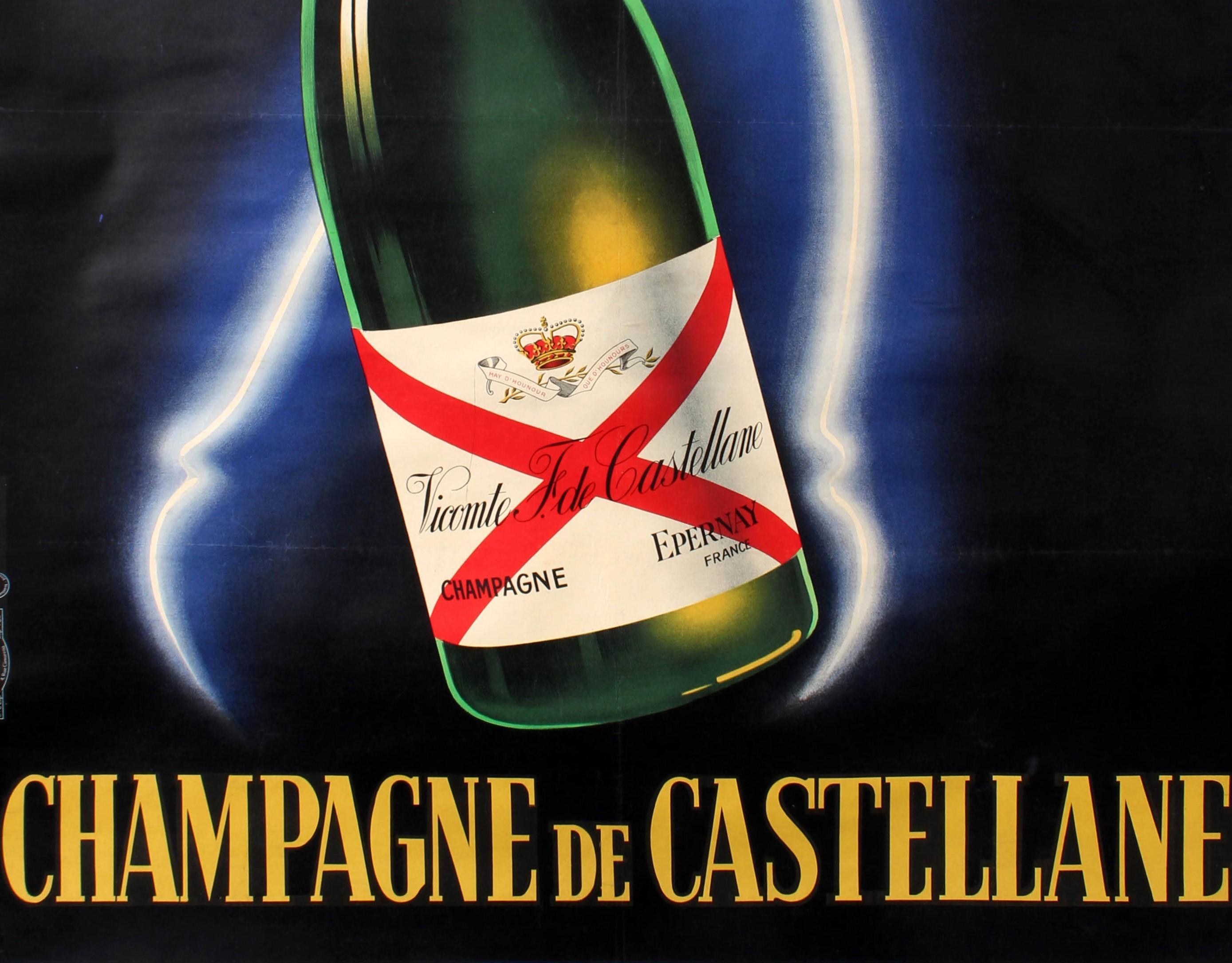 LARGE NEW French Art Poster CHAMPAGNE De CASTELLANE