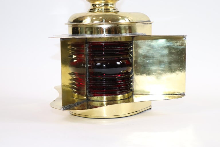 Robert Findlay Marine Lantern from Bow In Good Condition For Sale In Norwell, MA