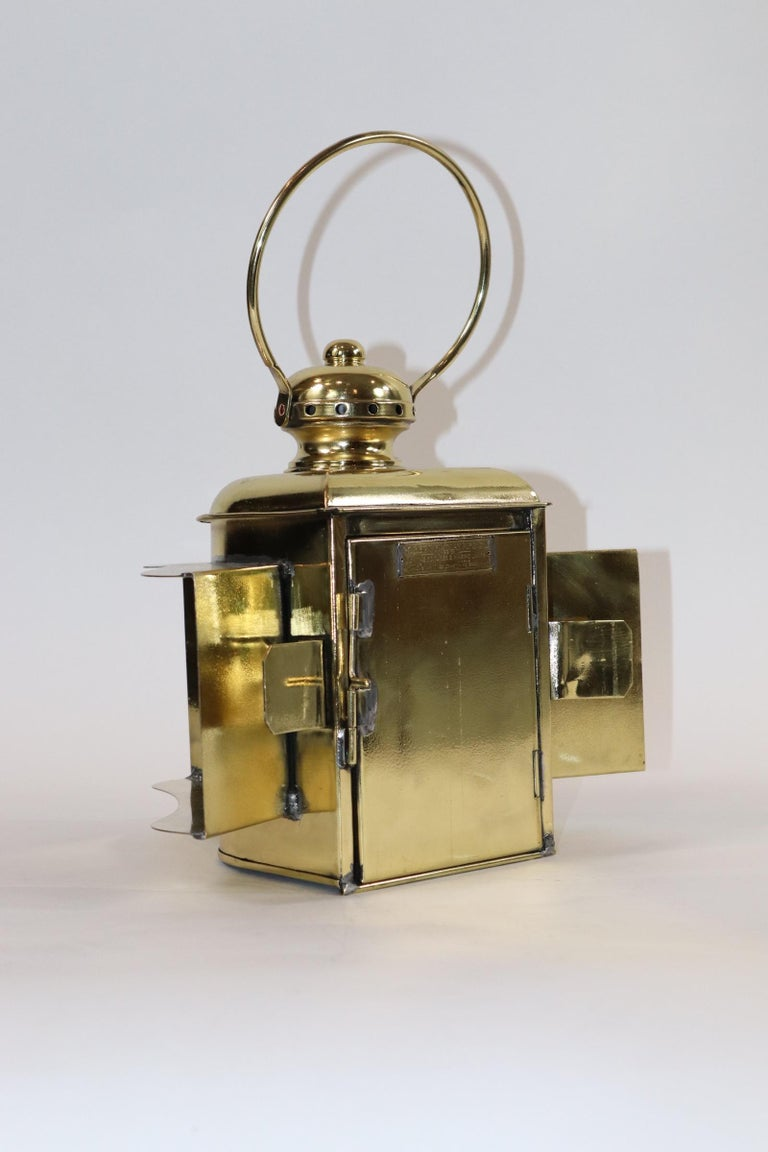 Early 20th Century Robert Findlay Marine Lantern from Bow For Sale