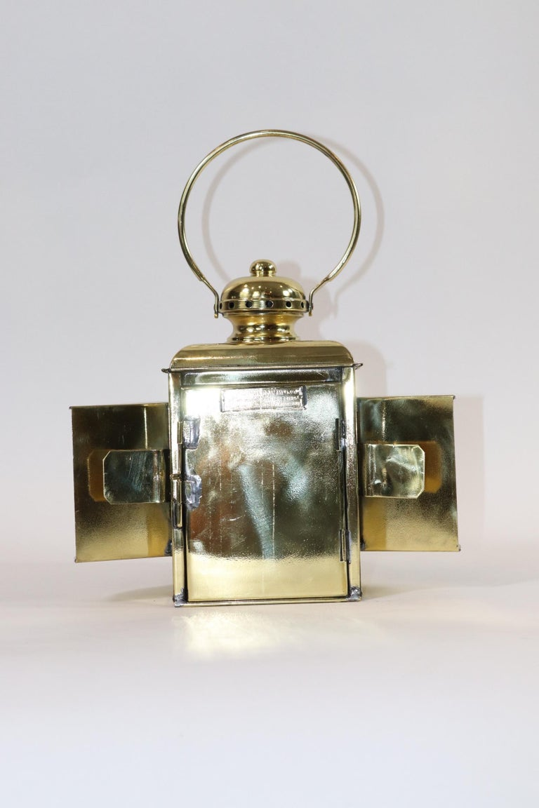 Brass Robert Findlay Marine Lantern from Bow For Sale