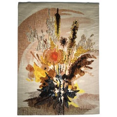 "Robert Four, Aubusson Tapestry ""Aube Fleurie"" Signed by Le Guen, circa 1960"