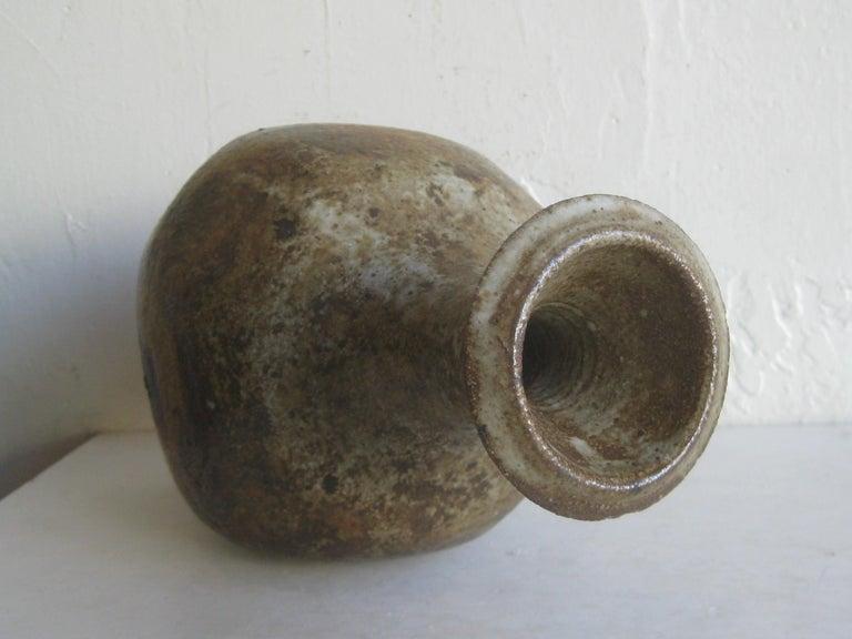 Robert Fournier British Studio Art Pottery Modernist Stoneware Vase Vessel Big For Sale 9