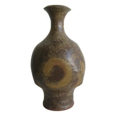 Robert Fournier British Studio Art Pottery Modernist Stoneware Vase Vessel Big