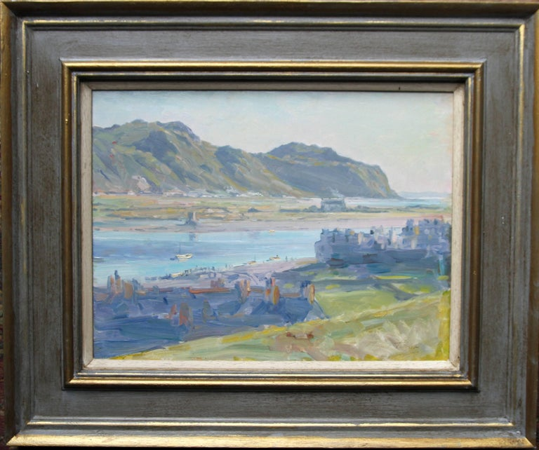 Conway Estuary Wales - Scottish Impressionist oil painting landscape summer sea