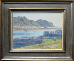 Conway Estuary Wales - Scottish 19thC Impressionist art landscape oil painting