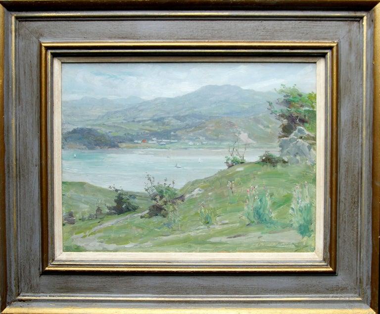 Welsh Landscape - Scottish Impressionist oil painting Conway Estuary Snowdonia