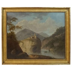 Robert Freebairn Welsh Snowdonia Landscape Painting, circa 1795