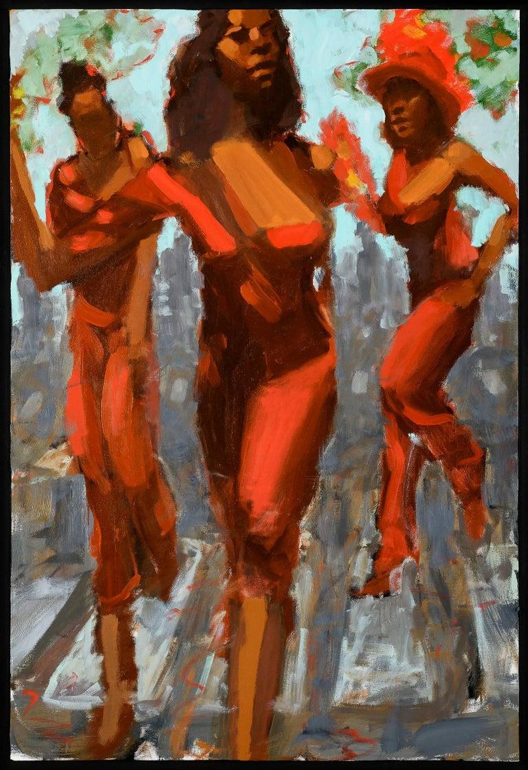 Robert Freeman Figurative Painting - Red Dresses