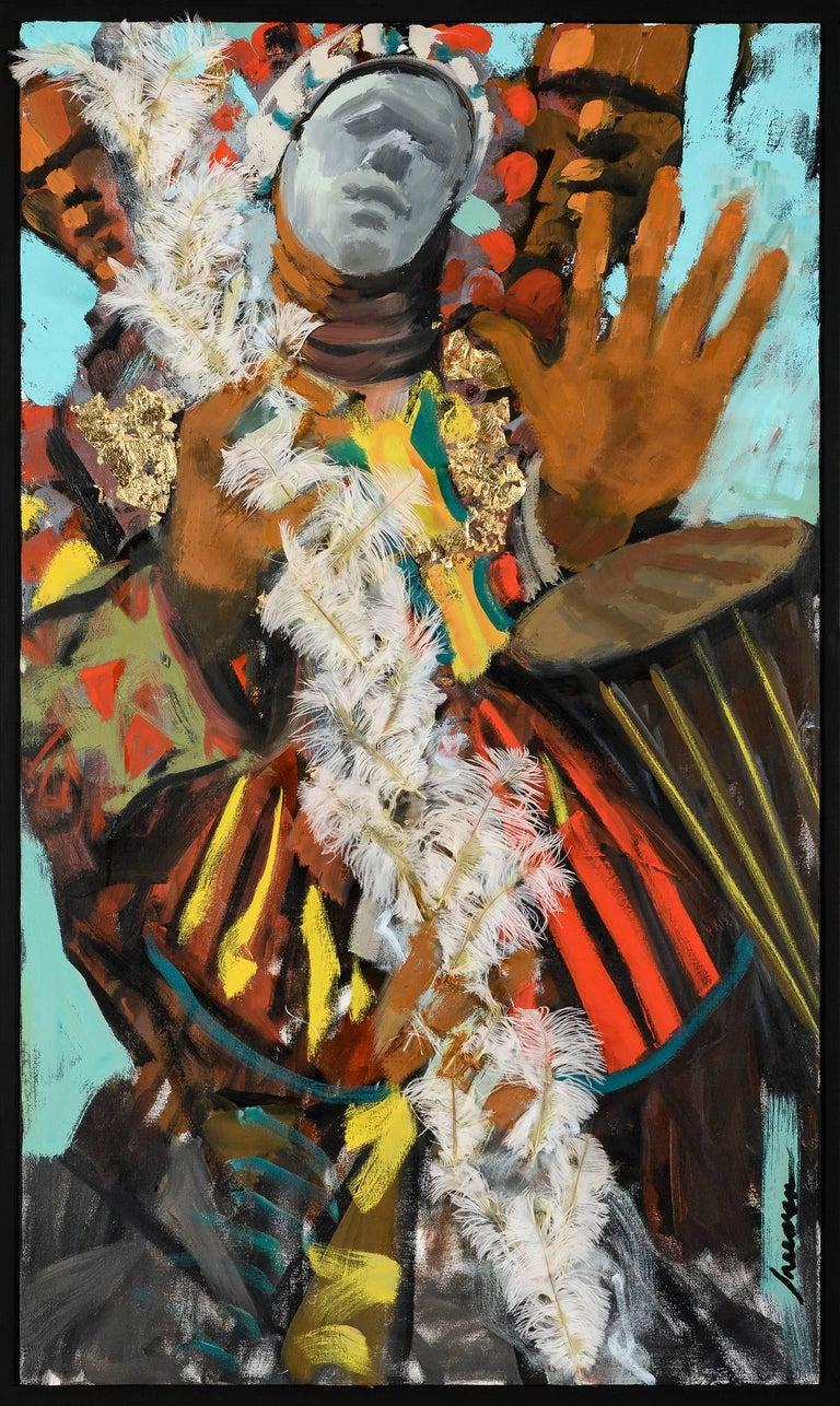 Robert Freeman Figurative Painting - Spirit Figure