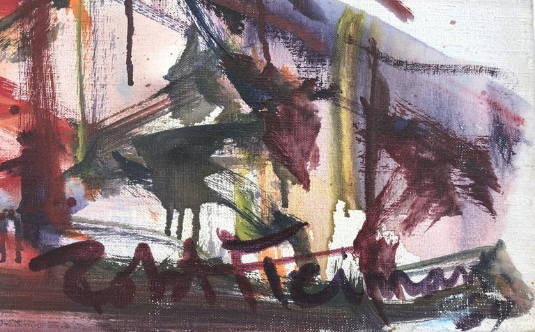 Large Abstract Harbor Scene For Sale 6