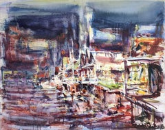 Large Abstract Harbor Scene