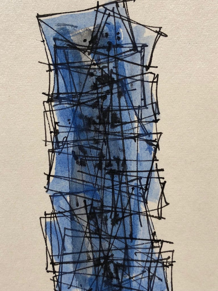 American Robert Freiman Watercolor and Ink on Paper, 1956 For Sale