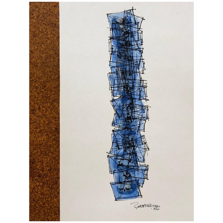 Robert Freiman Watercolor and Ink on Paper, 1956 For Sale