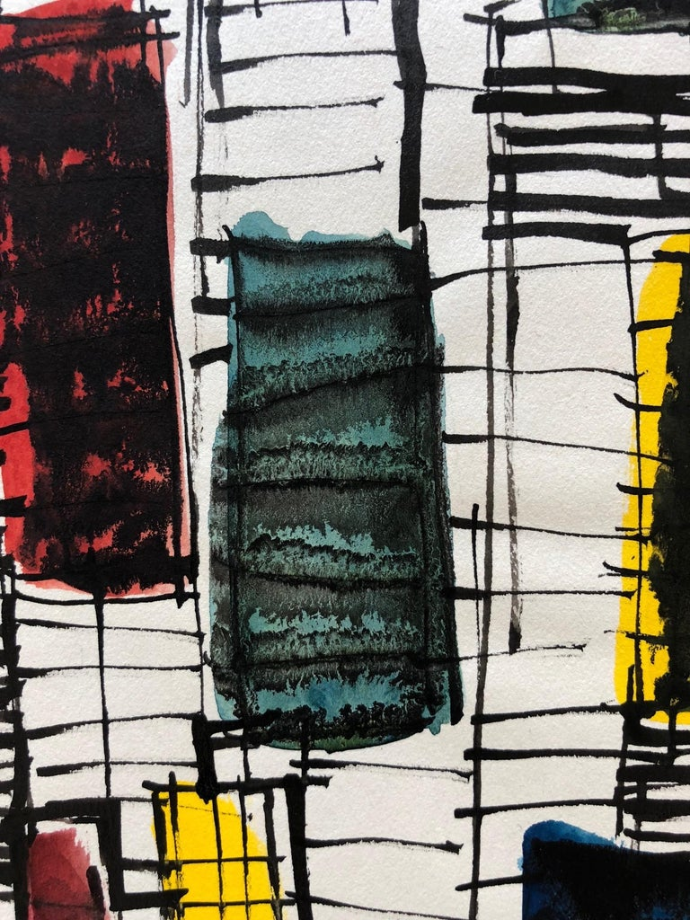American Robert Freiman Watercolor and Ink on Paper, 1957 For Sale