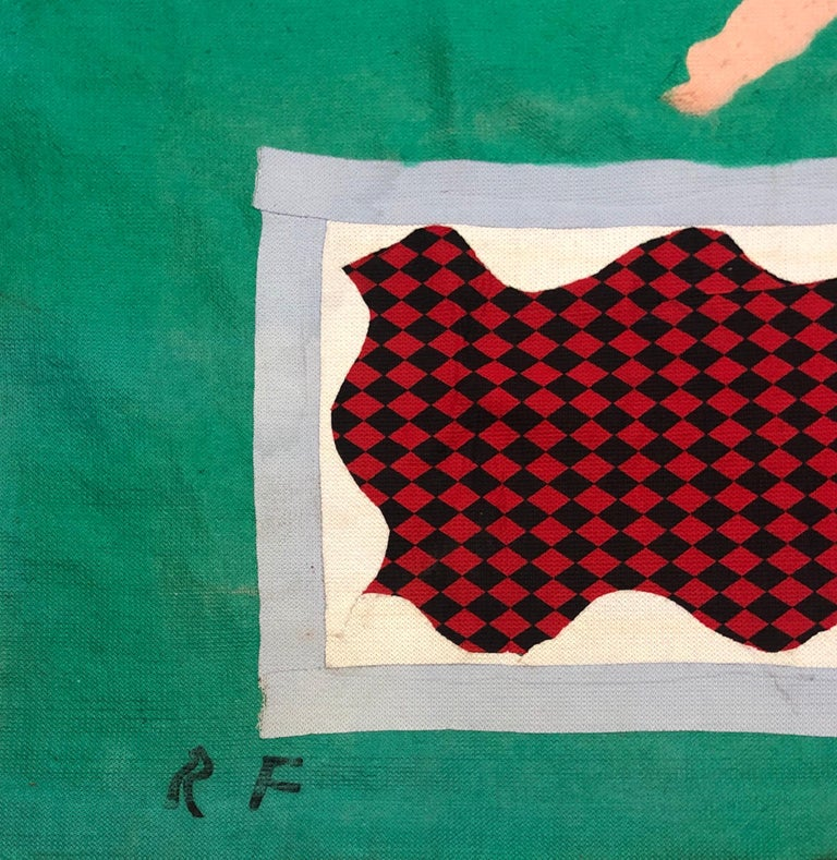 Art Protis Wall Tapestry  Robert Freimark  (1922 - 2010)  Bob Freimark was active/lived in Ohio, California, Michigan.  Robert Freimark is known for abstract expressionist painting, figurative-Mexico, teaching. Subject matter for which known: