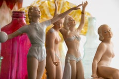 Art Deco Nude Porcelain Women and Ballerina Dancers in Classic Poses