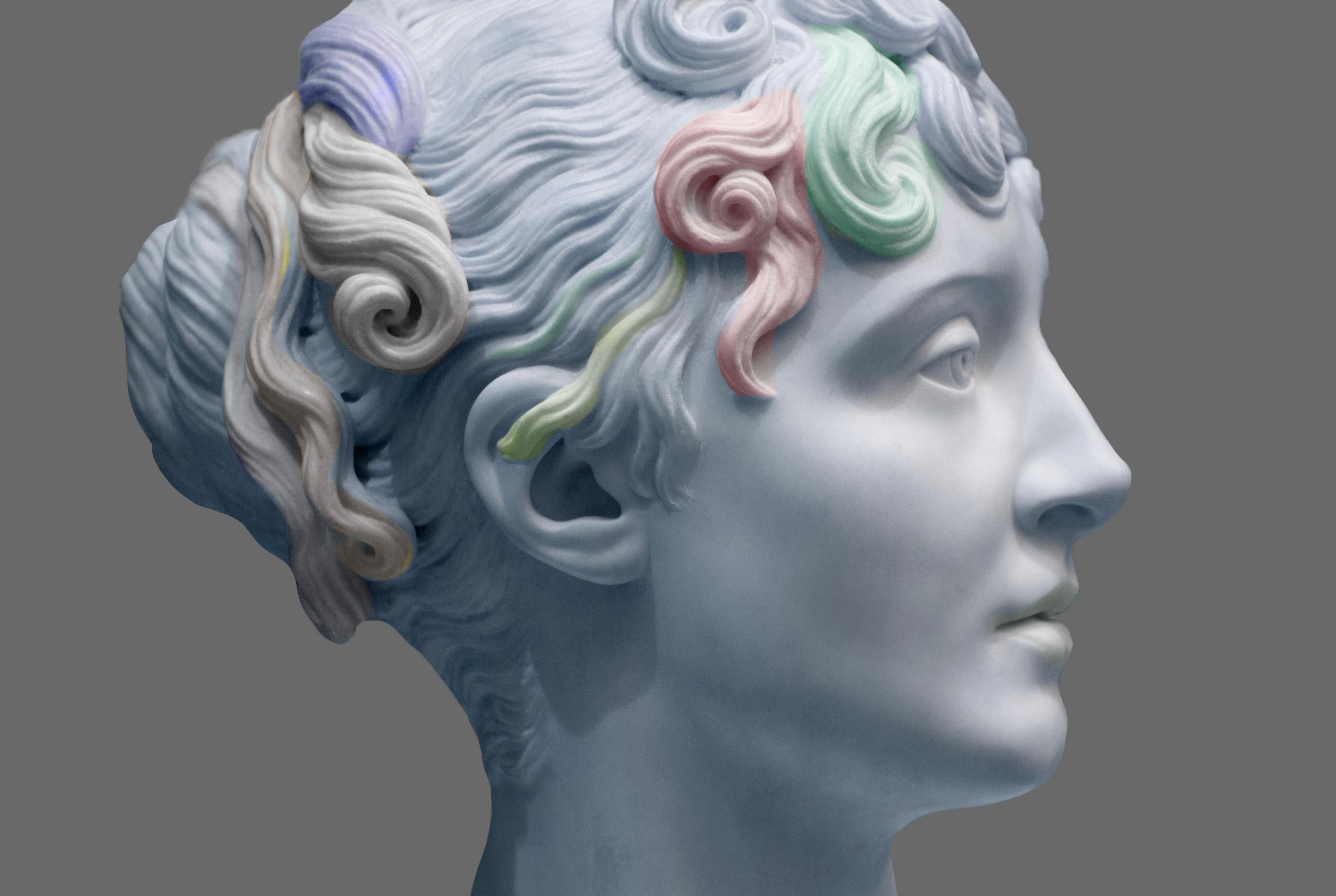 Classical Marble Bust in Profile