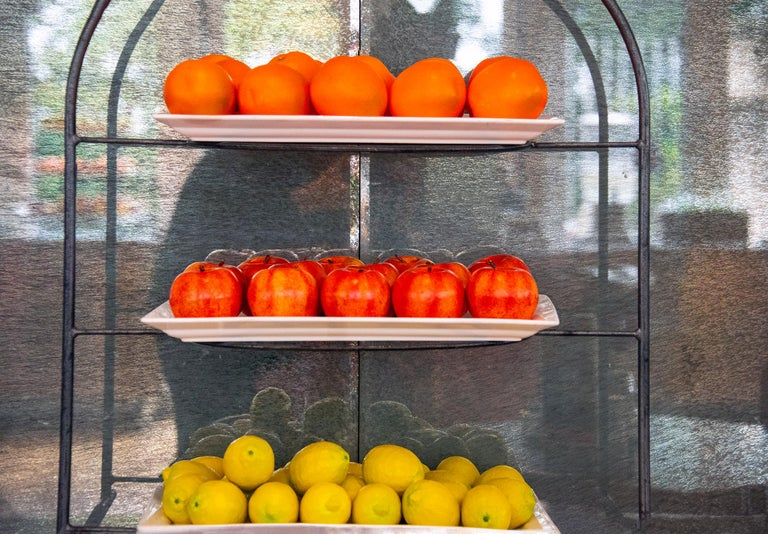 Robert Funk Still-Life Photograph - Oranges Apples and Lemons,  Stacked Fruit