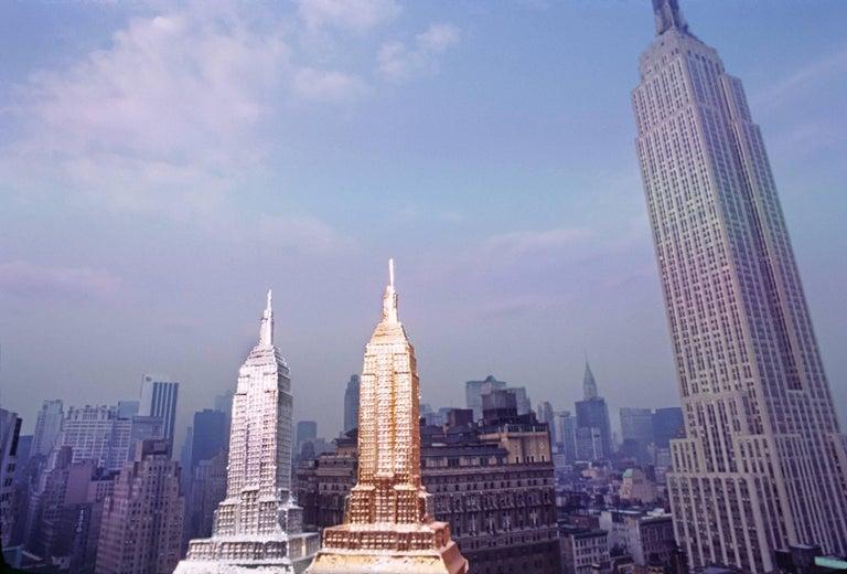 Robert Funk Landscape Photograph - Three Empire State Buildings
