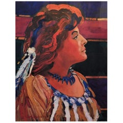 "Robert Gary Miller Native American Original Artist Proof Lithograph ""Pauline"""