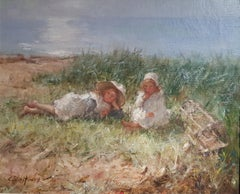 Impressionist Figurative painting 'Between Us' Robert Gemmell Hutchison R.S.A