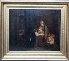 The Soldier's Farewell - Scottish Victorian art Interior portrait oil painting