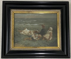 """Robert Gemmell Hutchison """"Seagulls and Sapphire Seas"""" Framed Lithograph C.1930"""