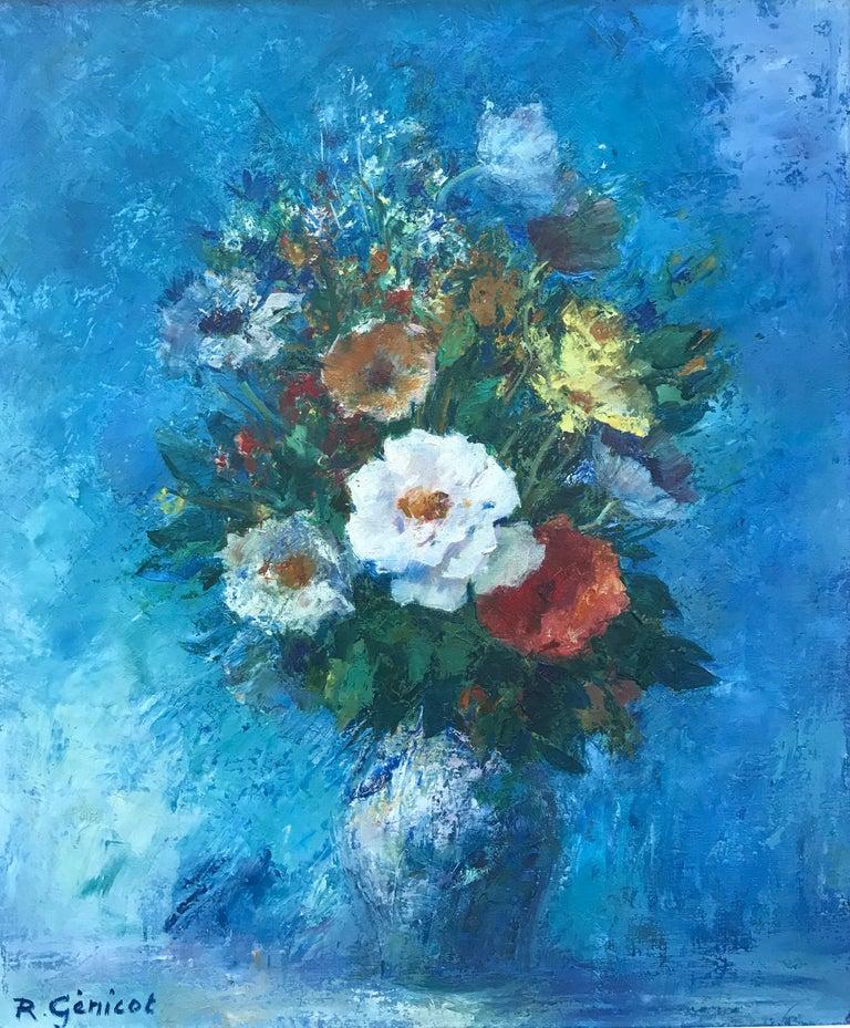 """Fleur Bleue"" - Painting by Robert Genicot"