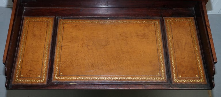 Robert Gillows II 1790 Writing Library Mahogany Chest of Drawers Leather Slope For Sale 5
