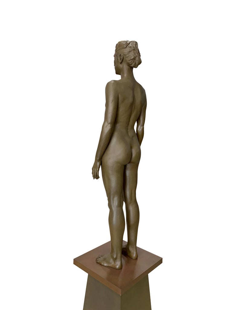 20th Century Large Robert Graham Bronze Figure on Pedestal For Sale