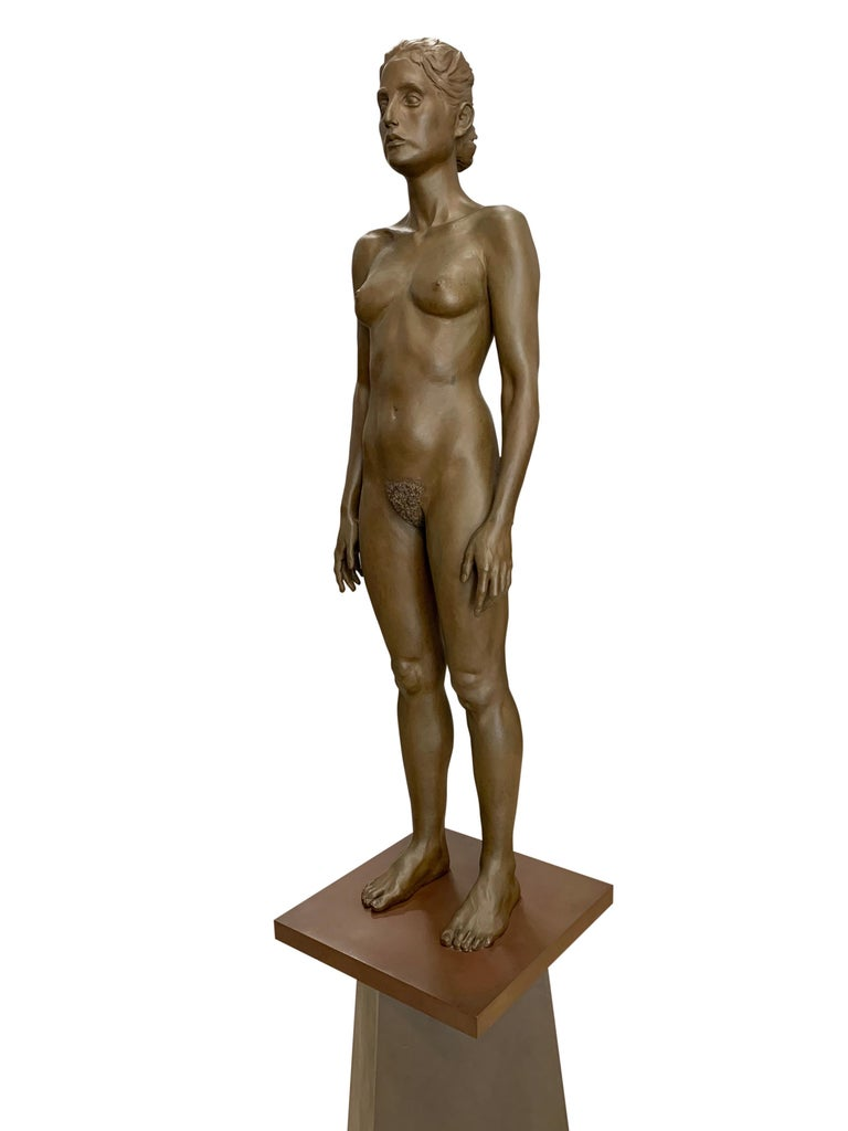 Large Robert Graham Bronze Figure on Pedestal In Good Condition For Sale In Los Angeles, CA