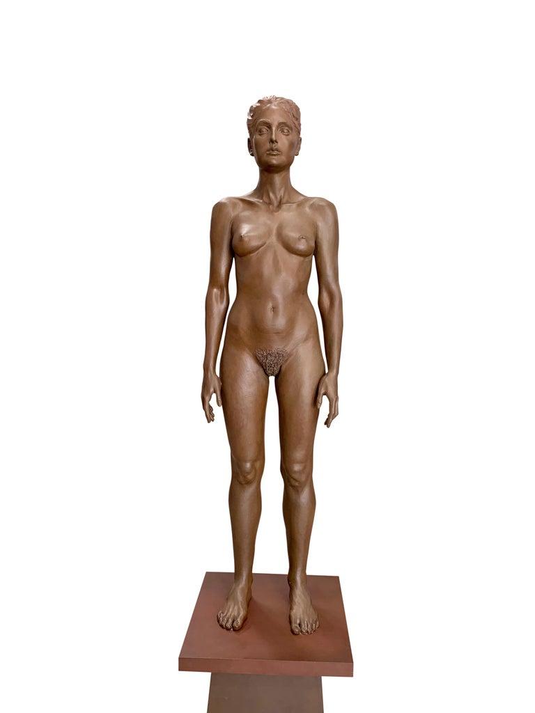 Mid-Century Modern Large Robert Graham Bronze Figure on Pedestal For Sale