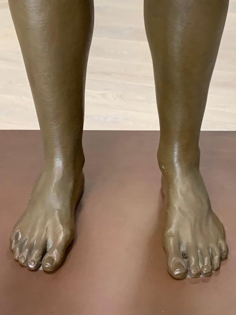 Large Robert Graham Bronze Figure on Pedestal For Sale 5