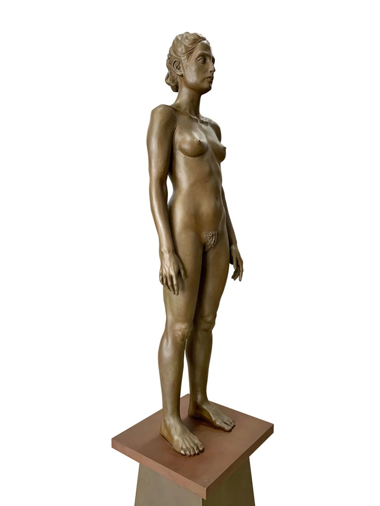 American Large Robert Graham Bronze Figure on Pedestal For Sale