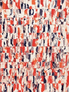 """""""Jean-Claude"""" - chic orange abstract painting"""