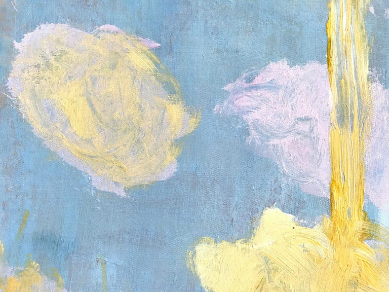 Advent in Yellow, Pink and Blue - Painting by Robert Gregory Phillips