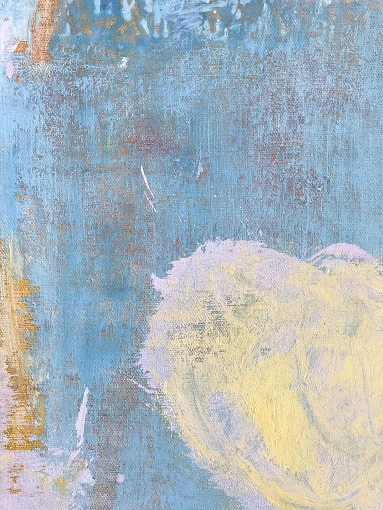 Advent in Yellow, Pink and Blue - Contemporary Painting by Robert Gregory Phillips
