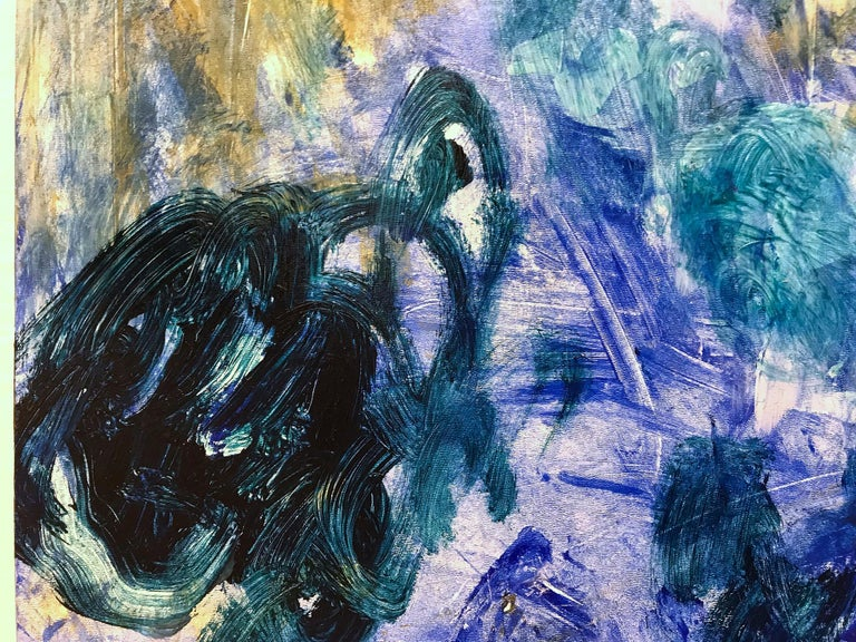 Beyond the Mountain in Blue For Sale 10