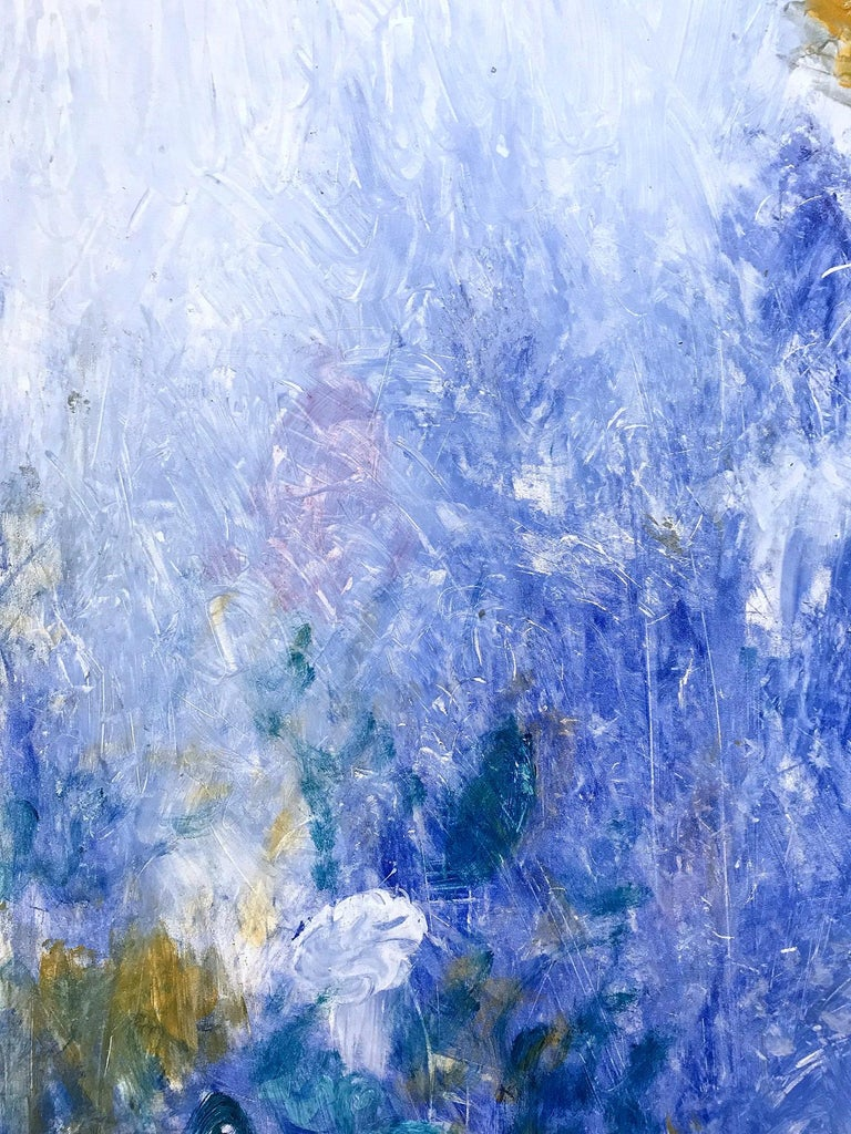Beyond the Mountain in Blue - Abstract Expressionist Painting by Robert Gregory Phillips