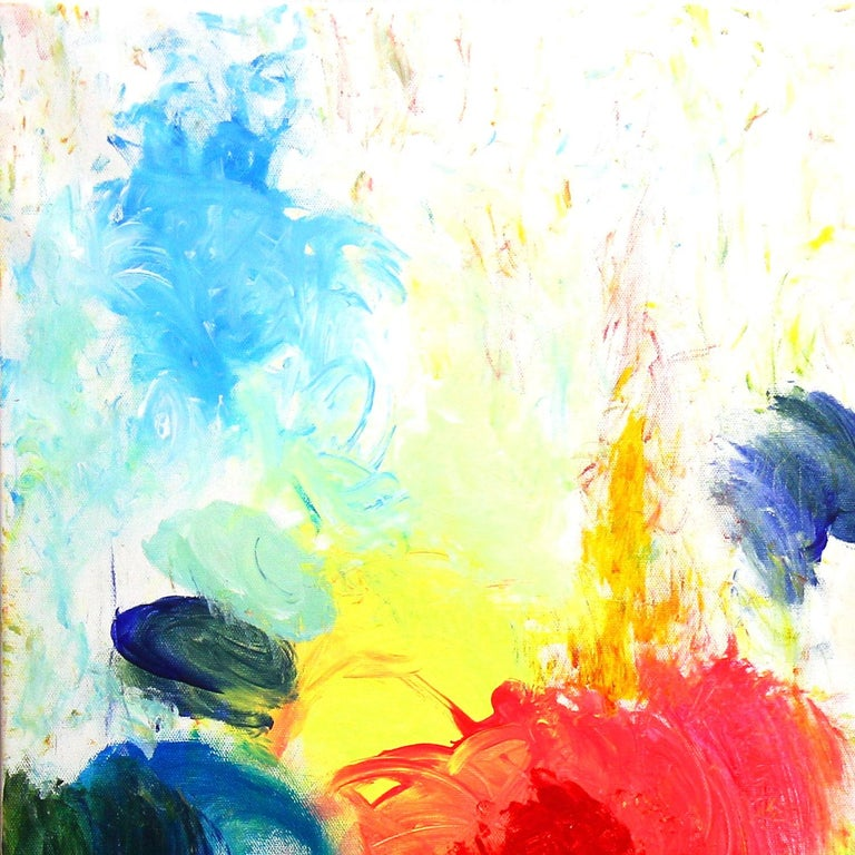 Clouds of Glory Touch Earth, Abstract Contemporary Painting - Yellow Abstract Painting by Robert Gregory Phillips