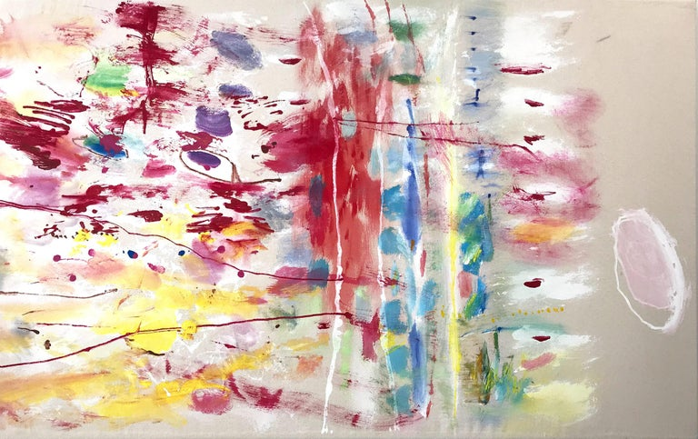 """Robert Gregory Phillips Abstract Painting - """"Considering Cezanne, Gorky, Twombly and a Landscape."""" Contemporary Painting"""