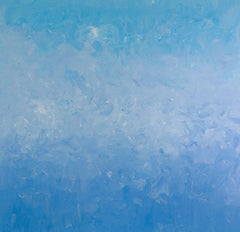"""Feeling Good With Blue"" Contemporary Acrylic Painting on Canvas"