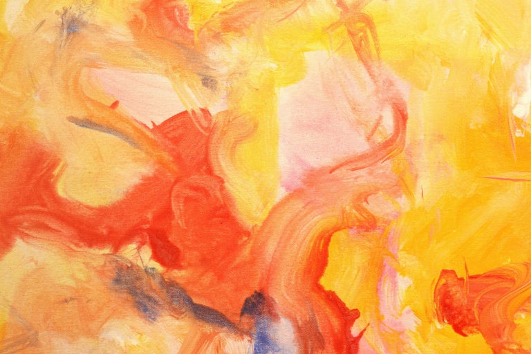 Love Languages - Orange Abstract Painting by Robert Gregory Phillips