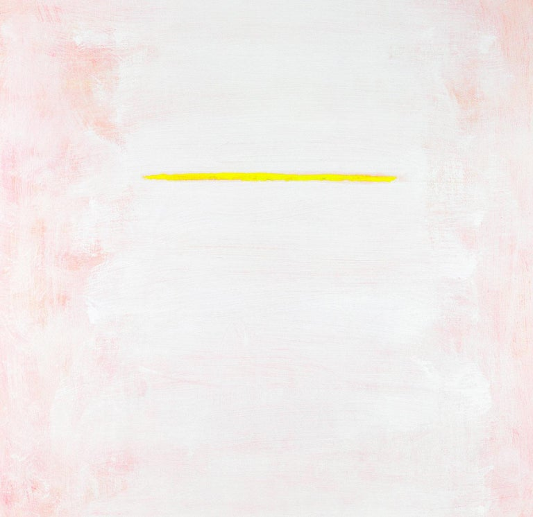 "Robert Gregory Phillips Abstract Painting - ""On The Horizon In Yellow"" Contemporary Acrylic Painting on Canvas"