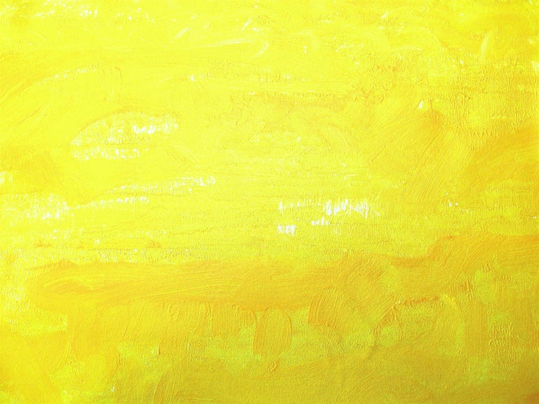 One Morning In Yellow, Abstract Contemporary Painting For Sale 1